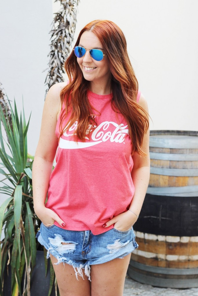 Outfit Summertime Coca Cola Backless Shirt8